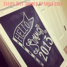 Hello Summer 2013 - Chalkboard Design