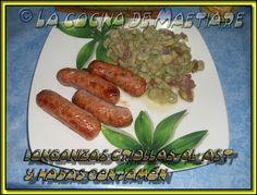 La cocina de Maetiare: Longanizas criollas al ast .... e indignación