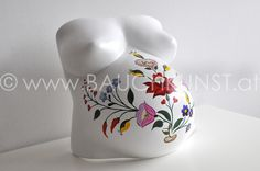 Hand painted Belly Cast, handbemalter Gipsabdruck Babybauch, Pregnancy Art, Angela Harand, www.bauchkunst.at