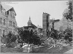 A picture of the damaged main building of the Agnew State Hospital, after the 1906 SF earthquake. San Francisco Travel, San Francisco California, Us History, American History, Titanic Artifacts, San Francisco Earthquake, California Location, San Fransisco, Historical Pictures
