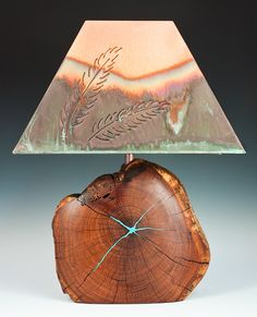 Professional secrets to rawhide lamp shade care southwestern lamp mesquite lamp with fern copper shade southwestern aloadofball Image collections