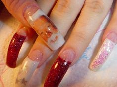Exotic Acrylic Nails with Designs   Long Nails by hollysnails