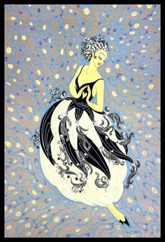 Erte - Tuxedo-- i want this print out one day some day