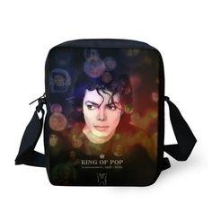 2015 New Arrival Character Printing Men Messenger Bags Bob Michael Jackson Crossbody Bags for Men Boys Casual Shoulder Bags