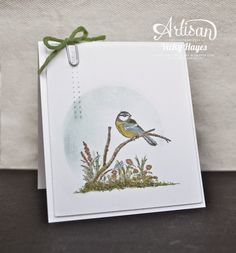 Stampin' Up ideas and supplies from Vicky at Crafting Clare's Paper Moments: A little bird with Moon Lake from Stampin' Up