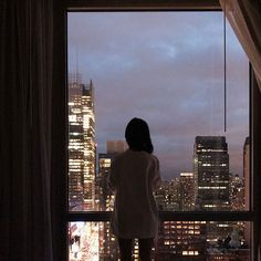 the world is quiet here Night Aesthetic, City Aesthetic, Apartment View, City Vibe, Nyc Life, Window View, City Lights, Belle Photo, Aesthetic Pictures