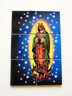 Our Lady of Guadalupe  Starry Night  catholic by TerryTiles2014