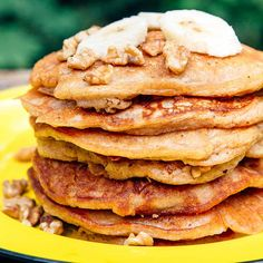 Banana Bread Pancakes are a delicious way to start your morning! Banana Bread Pancakes are a delicious way to start Camping Meal Planning, Best Camping Meals, Camping Menu, Camping Recipes, Camping Ideas, Backpacking Recipes, Camping Foods, Kayak Camping, Camping Cooking