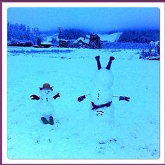 Upside down snowmen