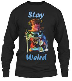 Limited Edition   Stay Weird Black T-Shirt à manches longues Front