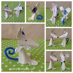 A tak się bawimy…: Myszki :) – Best DIY images in 2019 Craft Activities For Kids, Projects For Kids, Diy For Kids, Crafts For Kids, Mouse Crafts, Fun Crafts, Arts And Crafts, Paper Crafts, Egg Box Craft