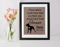 Pet Loss Gift - Pet Memorial Burlap Frame - Pet Memorial Frame - Personalized…