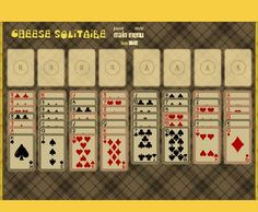 Place each Ace card on their respective foundation. Then the player needs to build up the suits in their consecutive suit in order above the Aces. You can only move and use the up-most card in each column.