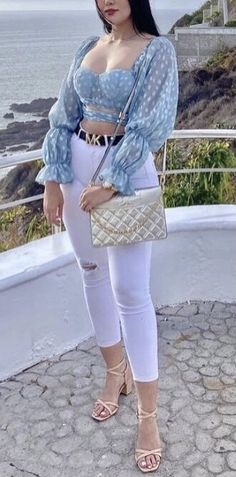 Stylish Summer Outfits, Dressy Outfits, Retro Outfits, Cute Outfits, Fashion Outfits, Womens Fashion, Looks Jeans, Classy Casual, Dressing
