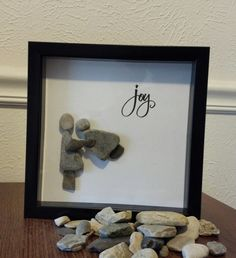 Pebble Rock Art by JeniferLeighDesigns on Etsy, $25.00