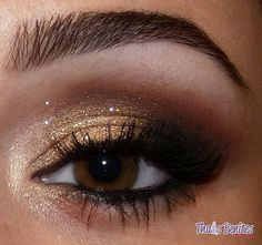 Cool makeup ideas for brown eyes (38 photos): gold makeup for brown eyes