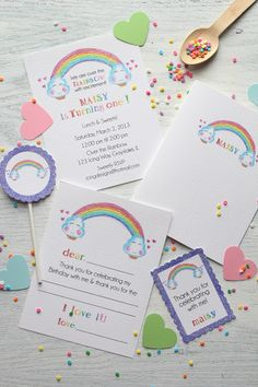 Over the rainbow glittered paper party collection. (Icing Designs)