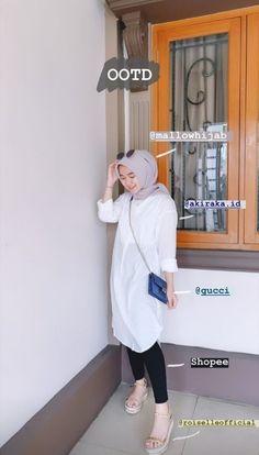 Hijab Fashion Summer, Modern Hijab Fashion, Street Hijab Fashion, Hijab Fashion Inspiration, Muslim Fashion, Casual Hijab Outfit, Ootd Hijab, Hijab Chic, Casual Outfits