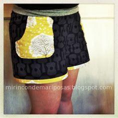 mi rincón de mariposas: Unos shorts para mí (con patrón) Costura Diy, Textiles, Pants Pattern, Sew Pattern, Couture, Summer Shorts, Sewing Patterns, Clothes, Dresses