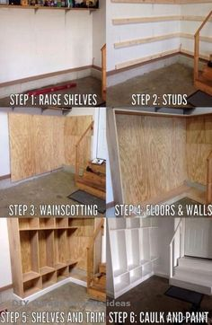 Ideas garage organization storage diy projects cubbies Ideas garage or. Ideas garage organization storage diy projects cubbies Ideas garage or… Cubby Storage, Storage Hacks, Diy Storage, Laundry Storage, Laundry Room, Cubbies, Home Renovation, Garage Lockers, Garage Workbench