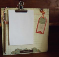 Gorgeous Vintage Style Kitchen Note Board / Shopping List Note Pad   #gifts #Christmas #holidaygifts