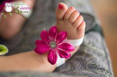 DIY Baby Barefoot Sandals:                        pinned-sisters.com