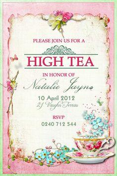 Make Your Own Tea Party Invitations Designs More http://www.silverlininginvitations.com/2016/10/make-your-own-tea-party-invitations-designs/7048