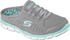 59ea01b303 Skechers Gratis No Limits Sneaker Clog - White 9.5 Stretch Lace, Stretch  Fabric, Sporty
