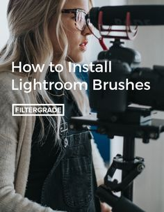 A step by step tutorial on how to install Lightroom Brushes for graduated filters, local adjustments, and other brushes in Adobe Lightroom.
