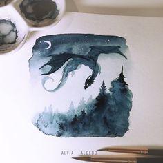 Best Inspiration Art Drawing – My Life Spot Magic Creatures, Animal Drawings, Art Drawings, Cool Dragon Drawings, Fantasy Drawings, Fantasy Artwork, Fantasy Kunst, Animes Wallpapers, Dragon Art
