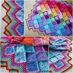Happy-Harlequin-Crochet-Blanket