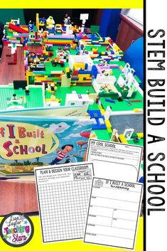 STEM Build a School Activity is a fun and engaging design and engineer challenge for elementary classrooms. STEM Challenges and Literature Connections are connected to the book If I Built a School by Chris Van Dusen. Students will design and construct their perfect school after reading this engaging book. (third, fourth, fifth graders, Grade 3,4,5) #teacherspayteachers #iteachtoo #stemeducation
