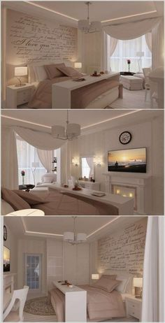 This bedroom is sooooo cozy, I love everything about it, the curtains are just my style, I also like them for the living room!