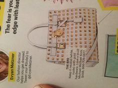 Michael kors bag. Wow. Give me this now! Ahhhhhhh