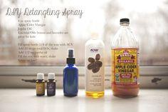 DIY Hair detangling spray, essential oils hair, young living, natural hair detangler, kids hair, kids hair detangling spray