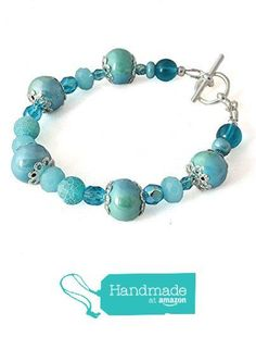 Colourful Turquoise Blue Glass Bead Bracelet, Silver Plated 7-8 Inches from Lottie Of London Jewellery https://www.amazon.co.uk/dp/B01LZVXSFU/ref=hnd_sw_r_pi_dp_nxyQybD475WQ6 #handmadeatamazon