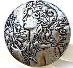 LLC Vintage Lady Sterling Silver Brooch Pendant Flore Lisa Lee Creations