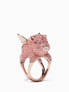 imagination pave pig ring | Kate Spade New York