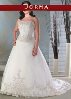 ivory strapless plus size wedding dresses wd7035