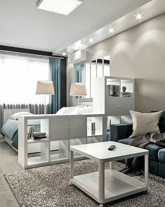 Pin on small studio apartment ideas Condo Interior Design, Small Apartment Interior, Small Apartment Design, Small Apartment Living, Home Room Design, Small Room Design, Studio Interior, Apartment Ideas, Studio Apartment Layout