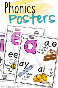 Build strong readers and spellers with beautiful phonics posters. ($) Perfect for first, second, and third grade classrooms