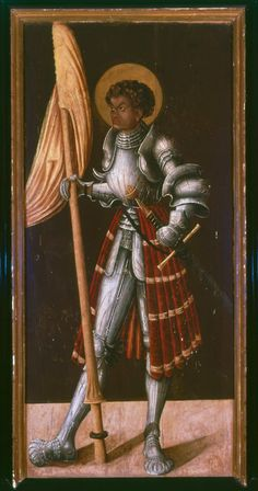 Saint Gregory of Germany (circa 1520 AD) | by an unknown German Artist | Oil on Wood Panel, 102 x 47 cm. | Köln, Katholische Pfarrkirche St. Gereon | Painted wing of a lost altarpiece