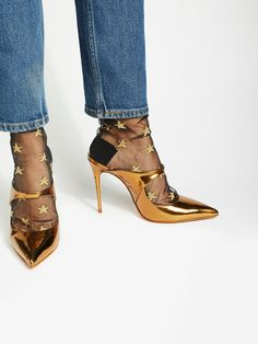 Schutz Bronze Nicole Pointed Heel at Free People Clothing Boutique