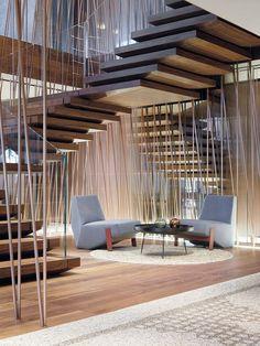 La escalera volada  Escadas com Soluções Modernas e de Segurança em Vãos de Escada e Varandas...  http://www.corrimao-inox.com  http://www.facebook.com/corrimaoinoxsp  #escadas #sobrados #pédireitoalto #Corrimãoinox #mármore #granito #decor  #arquitetura #casamoderna