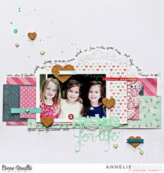#papercraft #scrapbook #layout  friends for life by Annelie at @studio_calico - creative journaling