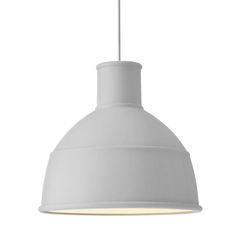 Light grey Unfold lamp | lighting . Beleuchtung . luminaires | Design: Muuto | finnish design shop |