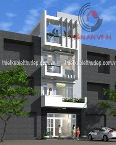 Mẫu thiết kế nhà phố 3 tầng đẹp mặt tiền 6m tại quận Gò Vấp - Kiến An Vinh
