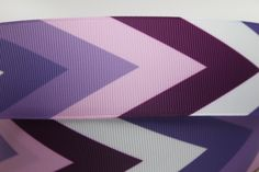 "1.5"" Purple Chevron Grosgrain Ribbon - Grosgrain Ribbon by the Yard for Hairbows, Scrapbooking, and More!!"