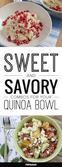 Sweet & savory combos to top off your healthy quinoa bowl