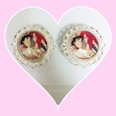 Tatted ariel and Eric plugs on Etsy, $22.00